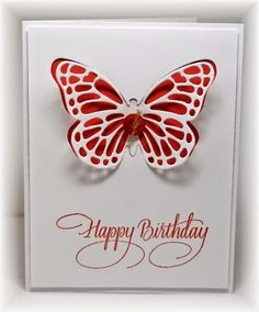 The card - a super simple one. Die cut butterfly from SU and an added sentiment.Not sure how I've managed to make a mes...