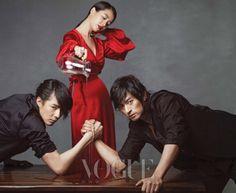 Song Ji Hyo, Joo Jin Mo & Jo in Sung for Vogue