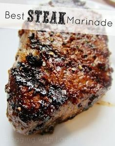 Best #Steak #Marinade Recipe ~ 1/3 cup low sodium soy sauce  1/3 cup olive oil  1/3 cup fresh lemon juice (1.5 lemons)  1/4 cup Worcestershire sauce  1 1/2 tablespoons garlic powder  3 tablespoons fresh basil  1 tablespoons dried parsley flakes    1 teaspoon ground white pepper  1 tablespoon minced garlic by Angelo1962