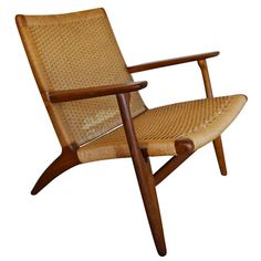 CH 25 Lounge Chair by Hans Wegner for Carl Hansen | 1stdibs.com