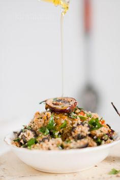 Couscous Salat mit gegrillter Melanzani