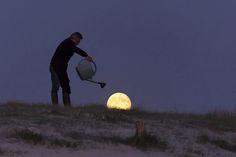 Series of Moon Games photos by astrophotographer Laurent Lavender. Really cool.