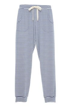 Quincy Runner - Lounge - Eberjey Fashion Joggers, Kids Sleep, Matching Icons, Pajama Pants, Cotton, Tops, Cuffs, Contrast, Lounge