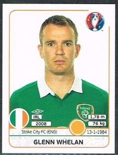 Image result for glenn whelan panini euro2016 Jack Charlton, France Euro, Stoke City Fc, Republic Of Ireland, Baseball Cards, Boys, Green, Image, America's Cup