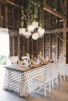 Rosette Table Overlay | Rose Floral Linen | Romantic Rustic Wedding Inspiration  wedding lighting | lighting ideas for wedding | industrial wedding lighting | festoon lighting |