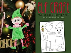 { Printable Elf Craft }