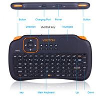 100% Original Viboton Mini Wireless Keyboard with Touchpad Fly Mouse Remote Control for Mini PC/ Android/ TV BOX/ Laptop