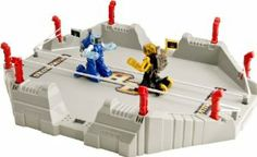 Battroborg 3-in-1 Battle Arena.  Motion-controlled battling robots  Control each punch with motion radio controllers  Robots register impact hits to the head  20 minute quick charger on controller  20 minutes of charge time = 20 minutes of play time