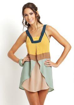 Sleeveless Colorblock Dress | Blu Pepper