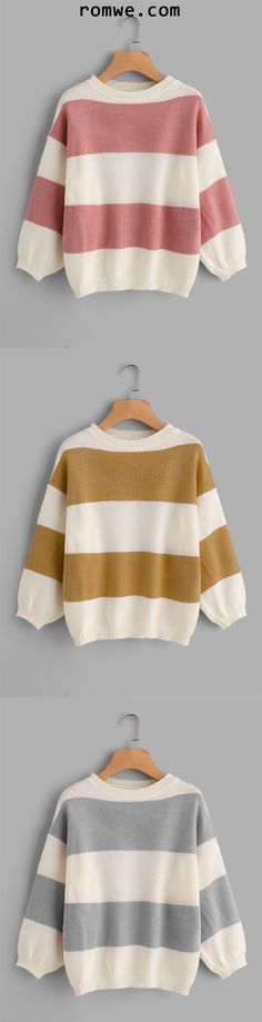 Wide Striped Sweater