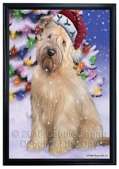 Winterland Wonderland Wheaten Terrier Dog In Christmas Holiday Scenic Background Framed Canvas Print Wall Art Framed Canvas Prints, Canvas Frame, Wall Art Prints, Wheaten Terrier, Terrier Dogs, Cat Gifts, Dog Lover Gifts, Malamute Dog, Dog Quilts
