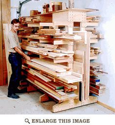 Modular Lumber Rack Woodworking Plan, Shop Project Plan | WOOD Store