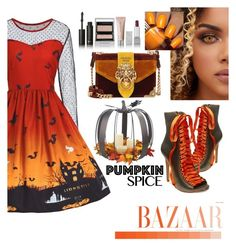 """Pumpkin Party Fashion"" by azharkhadafialr on Polyvore featuring Steve Madden, Prada, Floss Gloss and Burberry"