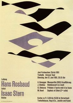 Josef Muller-Brockmann - Concert Poster - 1951