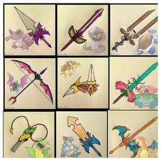 pokemon as weapons Pokemon Show, Pokemon Rpg, Pokemon Gijinka, Pokemon Pins, Cool Pokemon, Pokemon Fusion, Pokemon Stuff, Pokemon Universe, Pokemon Pictures