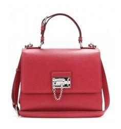 Rote Handtasche Monica aus Leder By Dolce & Gabbana