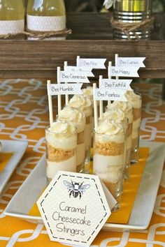 link goes to an etsy shop with printables.  but i like this visual: maybe layering crushed graham crackers with banana pudding and put whipped cream on top with a drizzle of honey