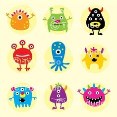 a collection of monster doodle. $4.99, via Etsy.     http://www.etsy.com/listing/58300770/a-collection-of-monster-doodle