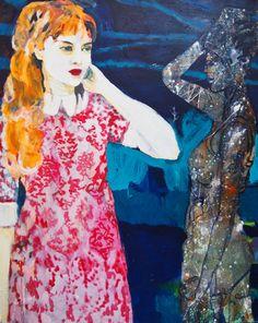 Asking   100 x 80 cm  Acryl auf Malgrund  2015
