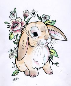 Picture result for cute tattoos - Zeichnungen - Art Bunny Tattoos, Rabbit Tattoos, Animal Tattoos, White Rabbit Tattoo, Animal Drawings, Cute Drawings, Tattoo Drawings, Hase Tattoos, Rabbit Drawing