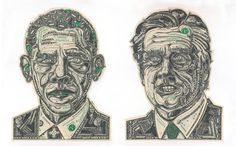 Mark Wagner Currency Collage Obama Romney Voting with your pocketbook election 2012