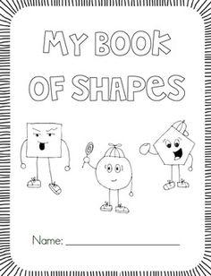 My Shape Book {All About Shapes} - First Grade Garden - Freebie Preschool Math, Kindergarten Classroom, Fun Math, Math Activities, Maths, Kindergarten Shapes, Classroom Ideas, Teaching Shapes, Teaching Math