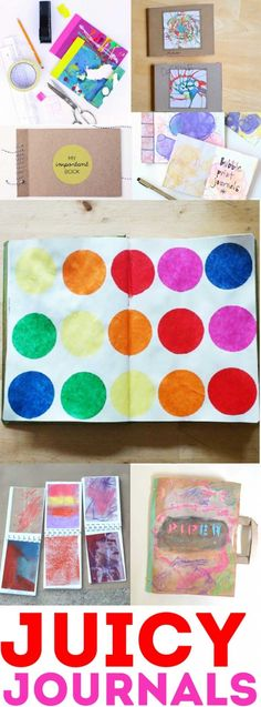 60+ Paper Crafts for kids and adults from the Rockin' Art Moms. Handmade Journals