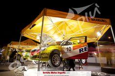 Carpa hexagonal para rally, carpa personalizada para Suzuki