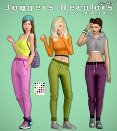 Tukete: Joggers Recolors • Sims 4 Downloads