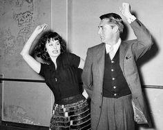 Sophia Loren teaches Cary Grant the flamenco, 1957.