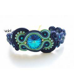 Soutache Bracelet - Blue Lagoon