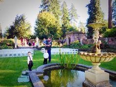 Noah, Gunner, my Bother Aaron and Gauge. In the garden. My wedding, Thornewood Castle 10-3-14