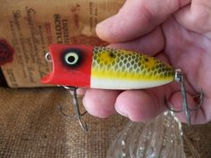 Heddon BABY LUCKY 13  Fishing Lure Vintage Top Water by rekamepip, $32.00