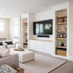 49 Cool Design Layout Ideas For Family Room Living Room Layout With Tv Living Room Layout design family ideas layout living Praktisch 49 Cool Desi… Room layout with tv Room Design layout with tv Built In Shelves Living Room, Living Room Tv, Home And Living, Built In Tv Wall Unit, Living Room No Fireplace, Tv Built In, Dining Room, Tv Wall Ideas Living Room, Modern Living