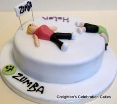 Fitness themed cakes...This is what I feel like after zumba some days!!