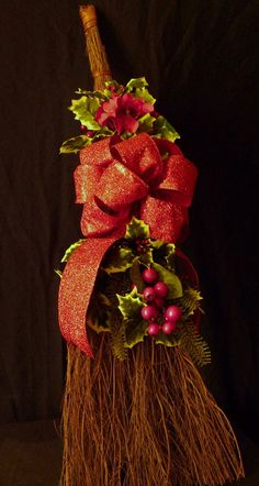 I want to decorate my cinnamon broom for X-mas, but with cuter decor!  ;)