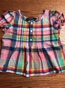 Polo, Ralph Lauren Toddler Girls Size 2T Madras Plaid Shirt EUC  | eBay