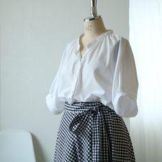 Japanese Sewing Patterns, Sewing Patterns Free, Free Pattern, Sewing Blouses, Shirt Blouses, Shirts, Easy Wear, Dress Codes, Dressmaking