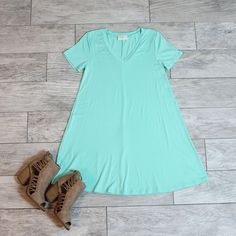 Emilee Seafoam T-Shirt Dress