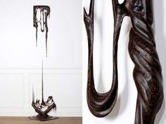 Melting Wooden Sculptures - The 'Duramen Series' by Bonsoir Paris is Organic in Shape (GALLERY)