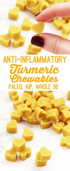 Even with more and more turmeric recipes popping up everywhere, it can still be a struggle to get ample amounts in this super food if we're not adding to to dishes a few times, or even once a week. Until now... introducing my anti-inflammatory turmeric chewables! All of the benefits of turmeric in one little bite.