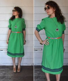 Vintage Green Dress // Trends by Jerrie Lurie //  by LaDeaDeiSogni