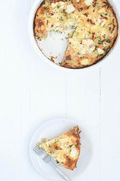Deze boerenkool frittata van Uit Pauline's Keuken heeft alle ingredienten voor een gezonde maaltijd