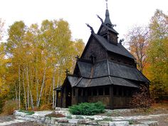 Stavekirk Church, Washington Island, Wisconsin... constructed like the stave wooden churches once built in Norway.