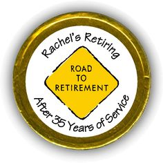 Sign Retirement Chocolate Coins