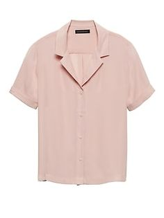 124ad592 Women's Blouses & Tops | Banana Republic Cuff Sleeves, Signature Style,  Collar Shirts