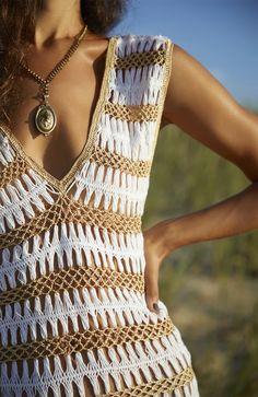 Crochet Buttons, Crochet Shirt, Crochet Top, Lace Summer Dresses, Beach Wear Dresses, Crochet Box Stitch, Hairpin Lace Crochet, Beach Crochet, Fringe Dress