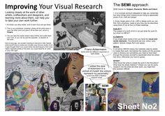 KS4 Visual Research Help Sheet | Part 2 | Sketchbook Presentation Skills