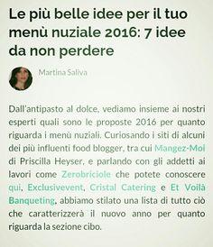 Nuovo  articolo  su Zankyou.it il menù  2016  martina saliva