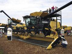 class combines | Harvesting: Increasing Throughput, Reducing Soil Compaction - Farm ...